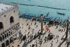 Piazza San Marco waterkant, Venetië Royalty-vrije Stock Afbeeldingen