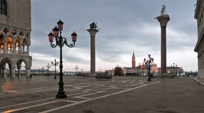 Piazza San Marco in winter morning Royalty Free Stock Photo
