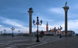 Piazza San Marco in winter morning Royalty Free Stock Images
