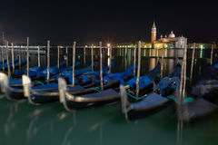 Piazza San Marcov Venice Long exposure By Night. Royalty Free Stock Images