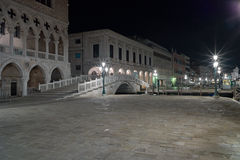 Piazza San Marcov Venice Long exposure By Night. Stock Images