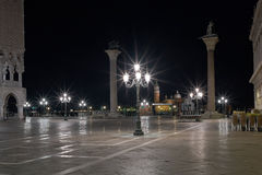 Piazza San Marcov Venice Long exposure By Night. Royalty Free Stock Photos