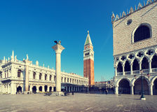 Piazza San Marko in early morning, Venice, Italy Stock Photos