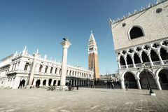 Piazza San Marko in early morning, Venice, Italy Royalty Free Stock Image