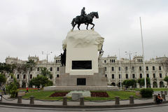 Piazza San Martin, Lima, Peru lizenzfreie stockfotos