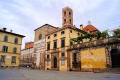 Piazza San Martino, Lucca Royalty Free Stock Photo