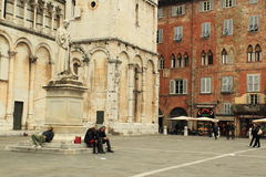 Piazza San Michele in Lucca Royalty Free Stock Photography