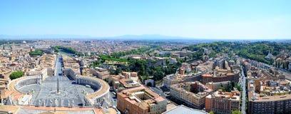 Piazza San Pietro à Ville du Vatican, Italie Images stock