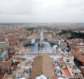Piazza San Pietro, basilica Vaticana Immagini Stock