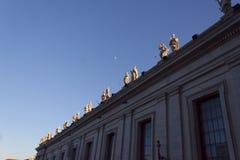 Piazza San Pietro Bernini Colonnade - Rome Stock Photo