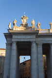 Piazza San Pietro Bernini Colonnade - Rome Stock Images