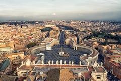 Piazza San Pietro a Città del Vaticano fotografie stock