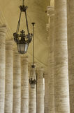 Piazza San Pietro Columns Royalty Free Stock Photo