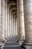 Piazza San Pietro Columns Stock Images