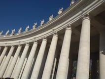 Piazza San Pietro Columns. The columns at Saint Peter, Vatican City royalty free stock image