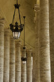 Piazza San Pietro Columns Royalty Free Stock Images