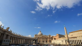 Piazza San Pietro. Fixed geometry. Vatican, Rome,. Italy. TimeLapse. Video. UltraHD (4K stock footage