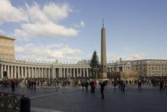 Piazza San Pietro i Rome arkivbild