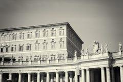 Piazza San Pietro i Vatican City royaltyfri fotografi