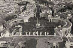 Piazza San Pietro i Vatican City arkivfoton