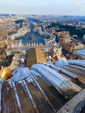 Piazza San Pietro i Vatican City Royaltyfria Bilder