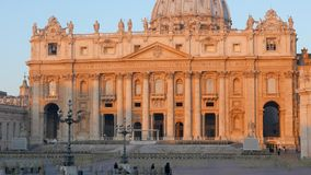 Piazza San Pietro, morning. Vatican, Rome, Italy stock video footage