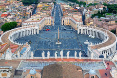 Piazza San Pietro in Vatican City, Italy Royalty Free Stock Image
