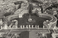 Piazza San Pietro in Vatican City Stock Photos