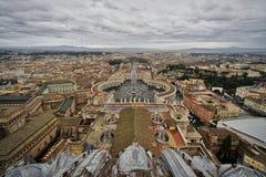 Piazza San Pietro, Vatican City, Rome, Italien Arkivbilder