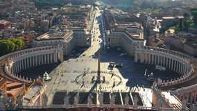Piazza San Pietro in Vatican. City, Rome, Italy stock video