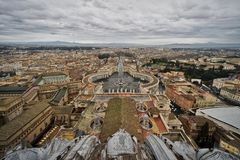 Piazza San Pietro, Vatican City, Rome, Italy Stock Images
