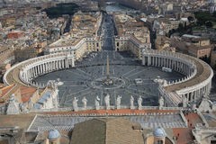 Piazza San Pietro, Vatican City Royalty Free Stock Images