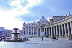 Piazza San Pietro, Vatican, Italie Photo libre de droits