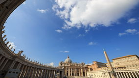 Piazza San Pietro. Vatican, Rome, Italy. TimeLaps stock footage