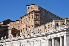 Piazza San Pietro, Vatikaan Royalty-vrije Stock Foto's