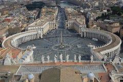 Piazza San Pietro, Ville du Vatican images libres de droits