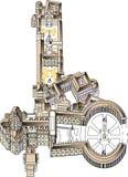 Piazza San Pietro w Vaticano ilustracja wektor