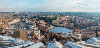 Piazza San Pietro w watykanie Obrazy Royalty Free