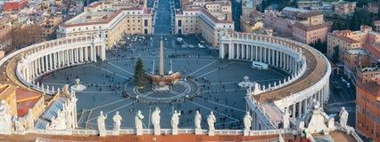 Piazza San Pietro w watykanie Zdjęcia Stock