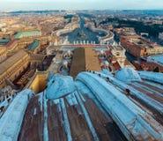 Piazza San Pietro w watykanie Obraz Stock