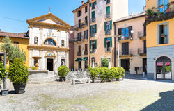 Piazza San Rocco, Verbania Intra, Italy Royalty Free Stock Photography