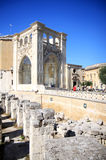 Piazza Sant'Oronzo downtown of Lecce, Italy Royalty Free Stock Photo