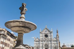 Piazza Santa Croce square in Florence, Italy Stock Images