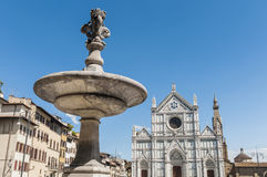 Piazza Santa Croce square in Florence, Italy Royalty Free Stock Image