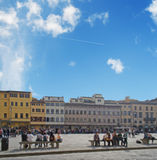 Piazza Santa Croce Stock Photo