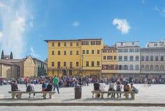 Piazza Santa Croce in tilt shift Stock Image