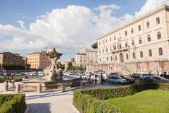 Piazza Santa Maria In Cosmedin Stock Image