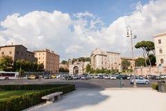Piazza Santa Maria In Cosmedin Stock Photo