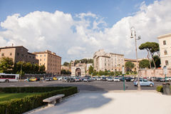 Piazza Santa Maria In Cosmedin Stock Photo