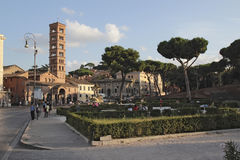 Piazza Santa Maria In Cosmedin Stock Photography